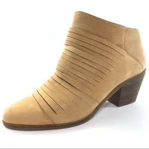 LUCKY BRAND ZAVRINA BOOTIE INCENSE NUBUCK LEATHER